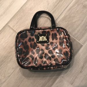 Juicy Couture toiletry cosmetic leopard bag